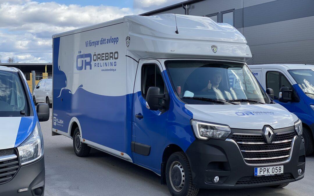 Vår nya bil för relining i Örebro län
